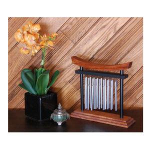 Campana a vento da tavolo Tranquillity in legno