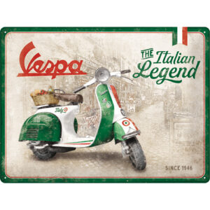 Cartello Vespa Italian Legend 30 x 40 in metallo