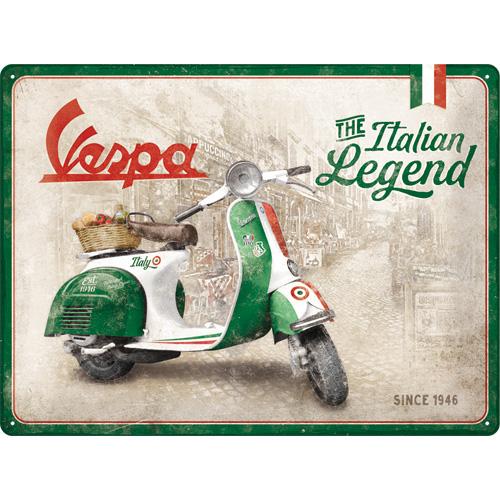 Cartello Vespa Italian Legend 30 x 40 in metallo