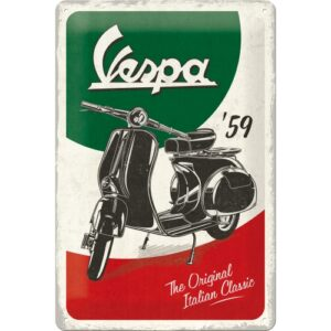 Cartello Vespa The Italian Classic 20 x 30 in metallo