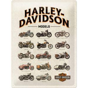 Cartello Harley Davidson 30 x 40 in metallo