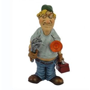 Statuina, caricatura mestiere, professione Idraulico