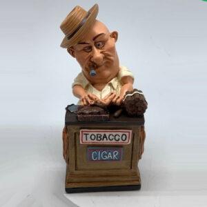 Statuina, caricatura mestiere, professione Tabaccaio