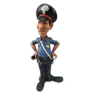 Statuina, caricatura mestiere, professione Carabiniere