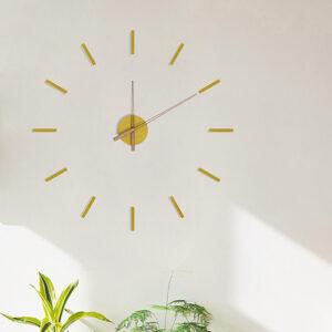 Orologio componibile Stick Tack giallo adesivo da parete 3D
