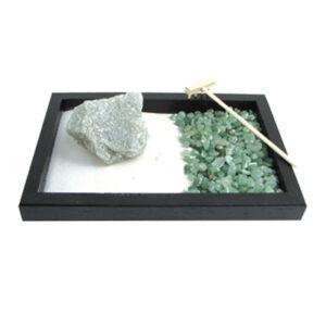Giardino Zen Entusiasmo ed Ottimismo con pietra avventurina grezza