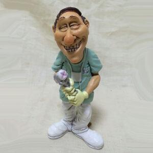 Statuina, caricatura mestiere, professione Dentista