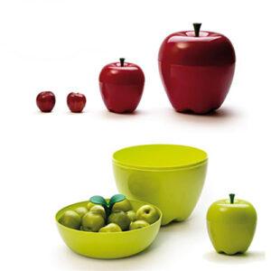 Centrotavola contenitore Apple Mela rossa diam. 30 cm.