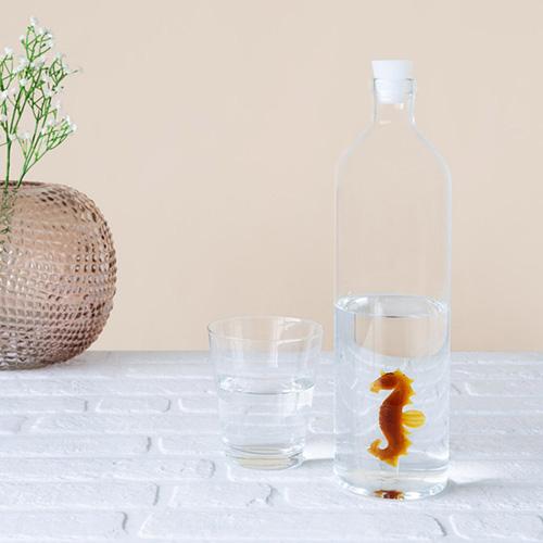 Bottiglia Cavalluccio Marino in vetro borosilicato 1.2 Litri