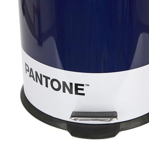 Pattumiera 20 Lt. Pantone blu in metallo con apertura a pedale
