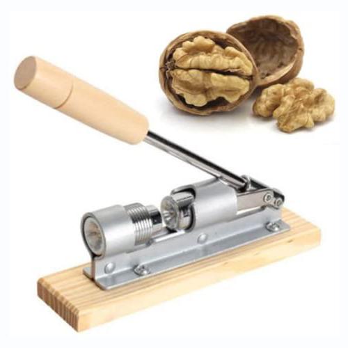 Schiaccianoci da tavolo a leva regolabile in legno e metallo