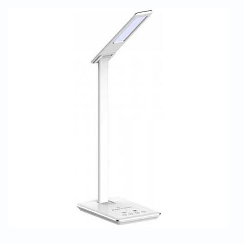 Lampada da tavolo led 5W multifunzione bianca con stazione di ricarica wireless