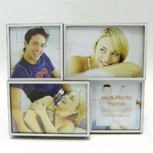 Portafoto multiplo da tavolo e da parete bianco e marrone