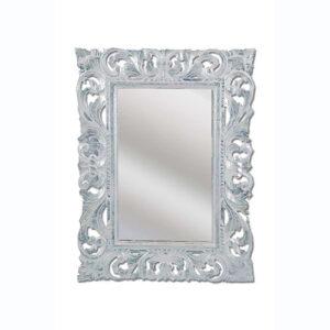 Specchio da parete in legno foglia argento 80x60 orizzontale o verticale