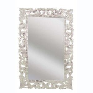Specchio da parete in legno foglia argento 120x80 orizzontale o verticale