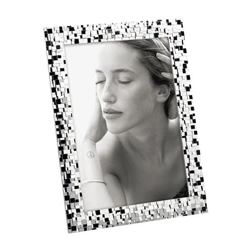 Portafoto da tavolo 13x18 color argento effetto faccette verticale o orizzontale