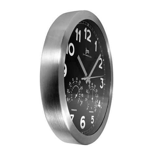 Orologio da parete nero con termometro e igrometro