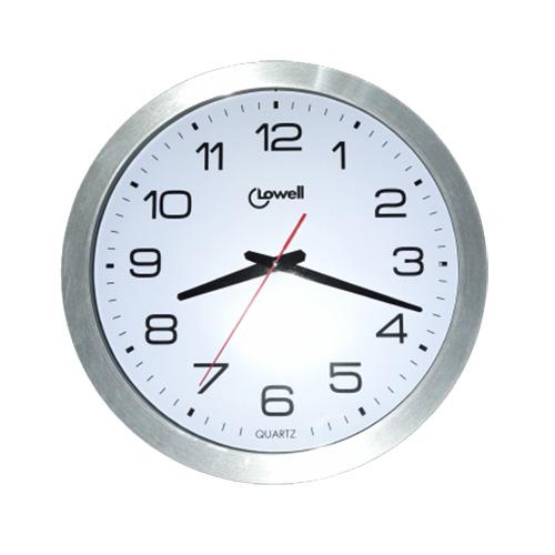 Orologio da parete 40 cm in alluminio e bianco