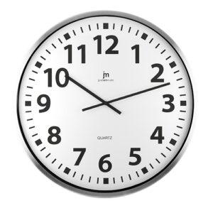 Orologio da parete diametro 60 cm. bianco in alluminio