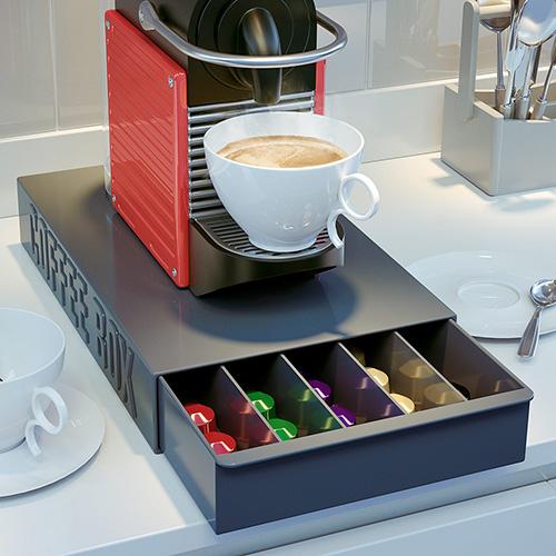 Contenitore porta capsule coffee box in abs grigio