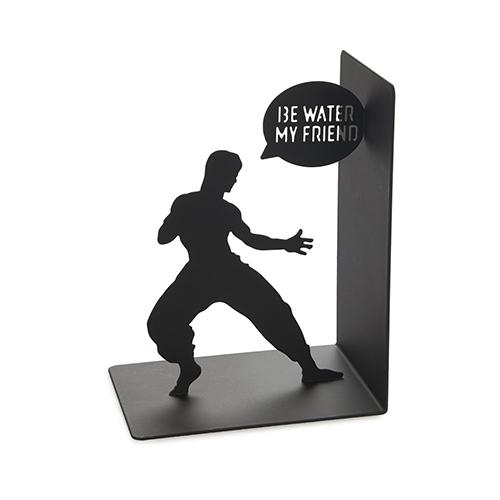 Fermalibri Bruce Lee in metallo nero