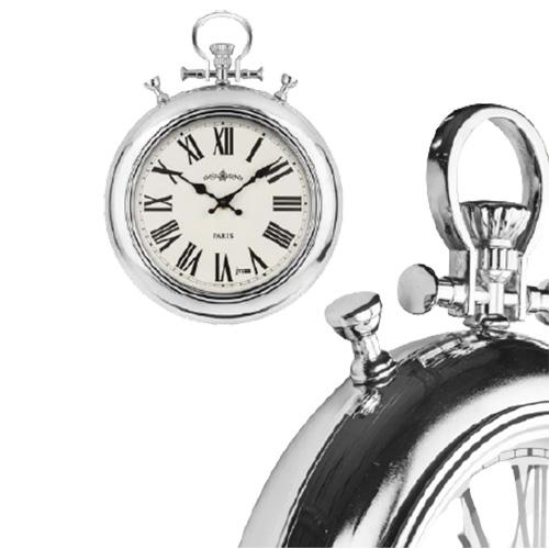 Orologio da parete vintage tipo da tasca cromato lucido