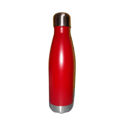 Borraccia in acciaio inox rosso blu 500 ml.