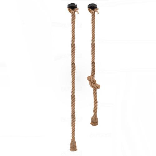 Lampadario vintage stile nautico pendente in corda