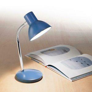 Lampada da tavolo orientabile blu