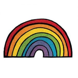 Zerbino Ingresso Rainbow Arcobaleno in cocco 70x40
