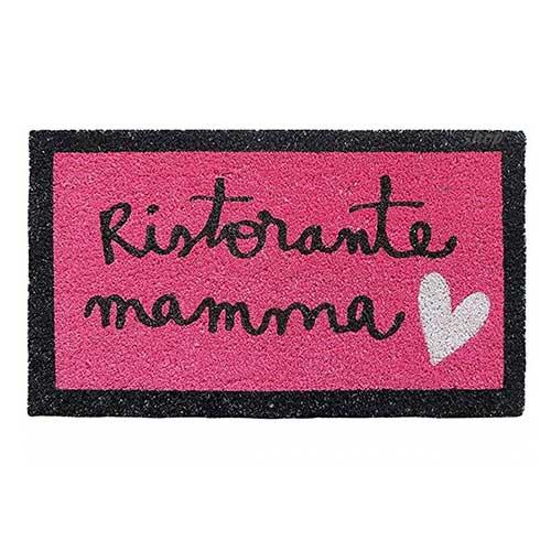 Zerbino Ingresso Ristorante mamma in cocco rosa fucsia 70x40