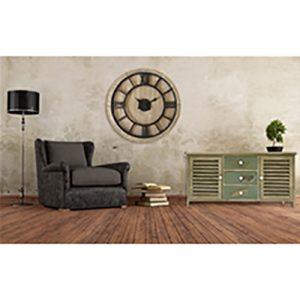 Orologio da parete grande stile Industrial diametro 70 cm. legno e metallo
