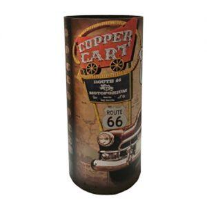 Portaombrelli Vintage Route 66 in MDF e Canvas 50x20x20 cm