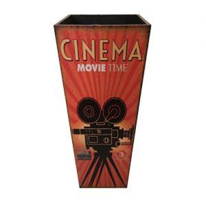Portaombrelli Vintage Cinema in MDF e Canvas 50x20x20 cm